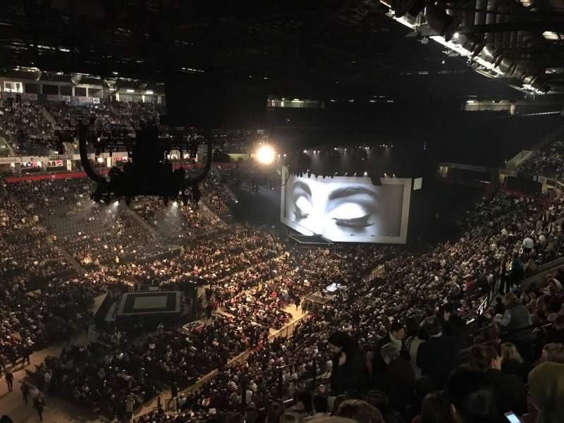 Seating view for Manchester Arena Section 211 Row M Seat 20