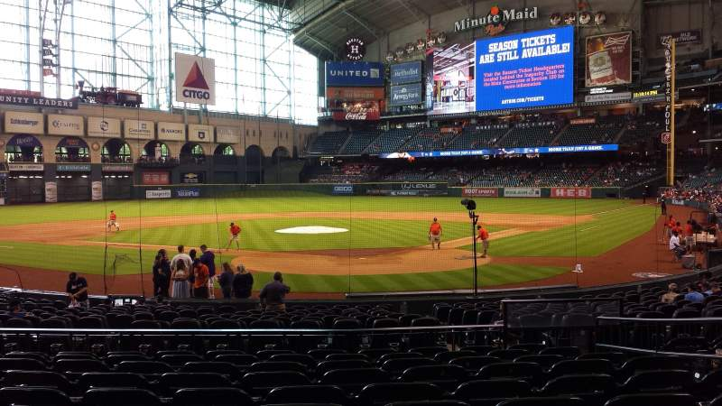 Seating view for Minute Maid Park Section 118 Row 21 Seat 21