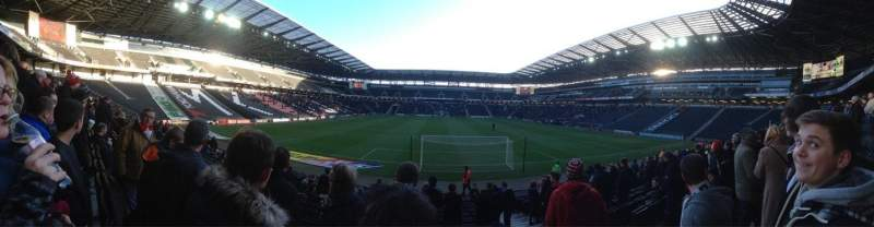 Seating view for Stadium:mk Section 32 Row R Seat 917