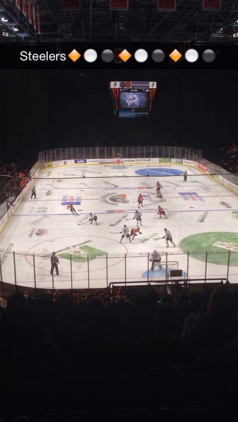 Seating view for Sheffield Arena Section 210 Row R Seat 11
