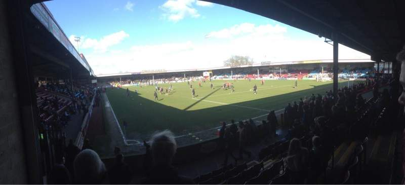 Seating view for Glanford Park Section AMS Stand Row H Seat 29