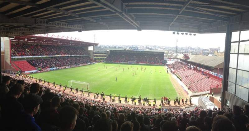 Seating view for Oakwell Stadium Section NS2 Row QQ Seat 20