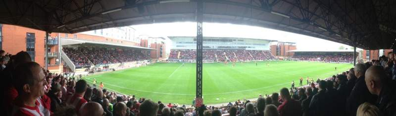 Seating view for Matchroom Stadium Section EBM - PAPST East Stand Upper Row K Seat 159
