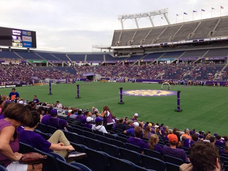Camping World Stadium, section: 106, row: W, seat: 1