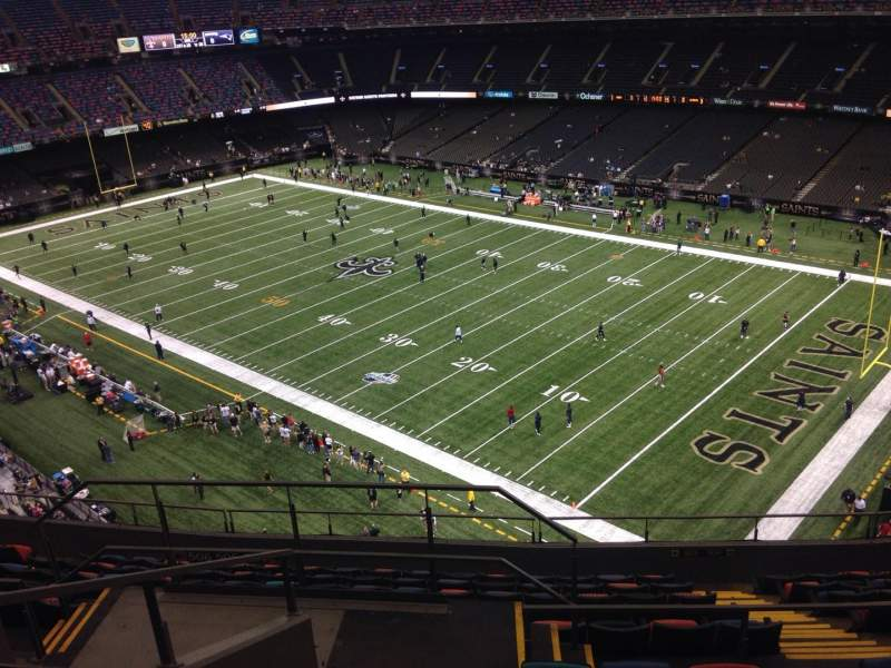 Mercedes benz superdome section 607 row 12 seat 19 for Hotels near the mercedes benz superdome