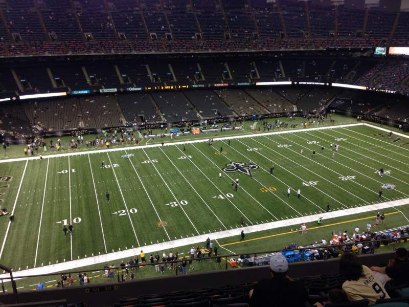 Mercedes benz superdome section 617 row 11 seat 12 for Hotels near mercedes benz superdome