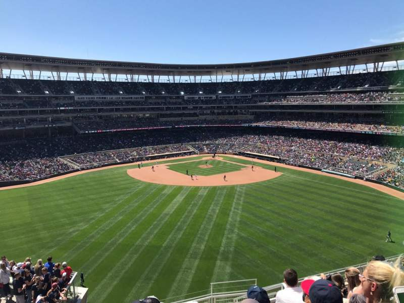 Target Field, section: 334, row: 9, seat: 29