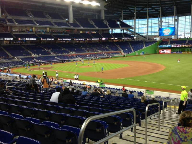 Seating view for Marlins Park Section 5 Row 16 Seat 16