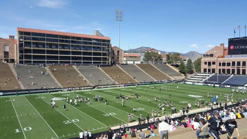Seating view for Folsom Field Section 115 Row 43 Seat 23