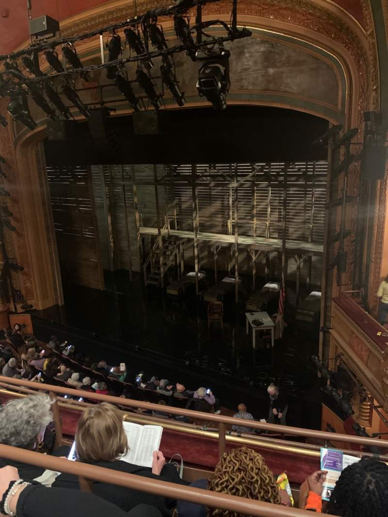 Seating view for American Airlines Theatre Section Front Mezzanine Row C Seat 104
