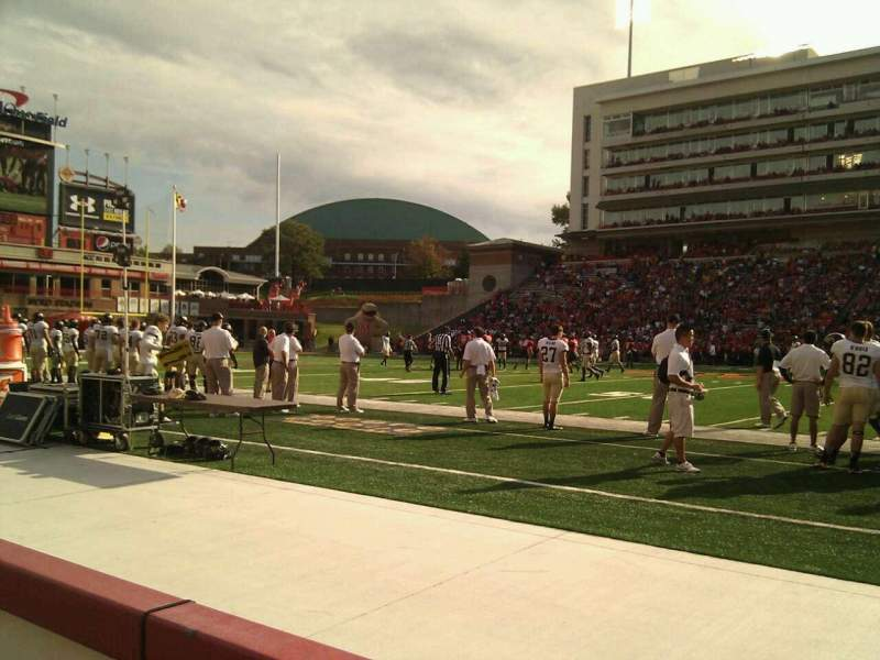 Maryland Stadium, section: 6, row: a, seat: 16