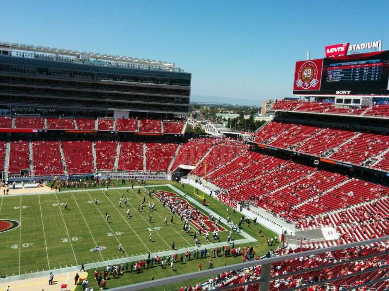 Levi's Stadium, section: 314, row: 2, seat: 8