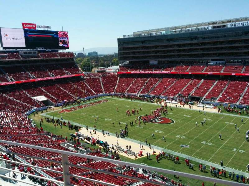 Levi's Stadium, section: 312, row: 2, seat: 7