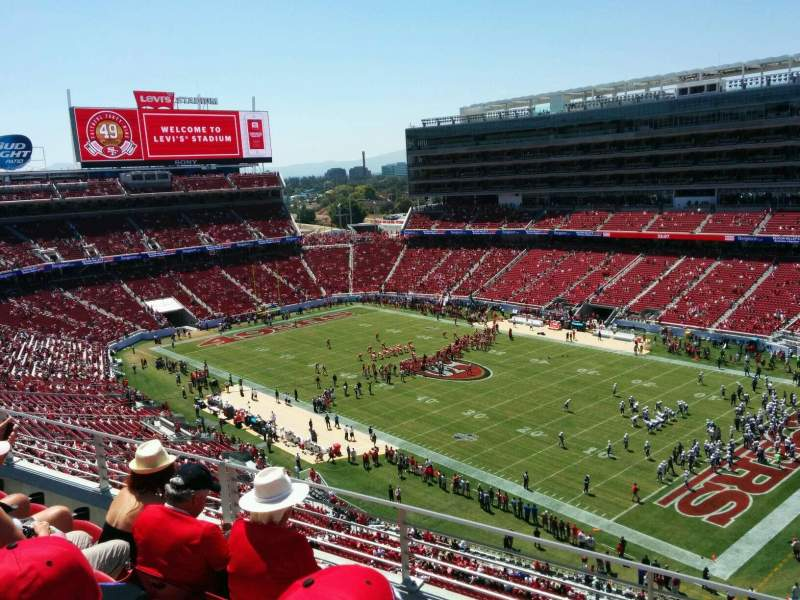Levi's Stadium, section: 309, row: 4, seat: 12
