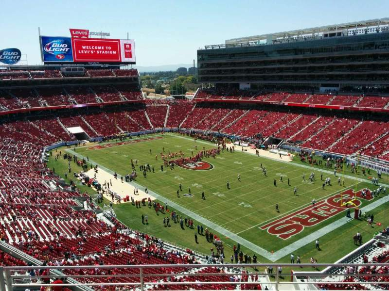 Levi's Stadium, section: 308, row: 4, seat: 13