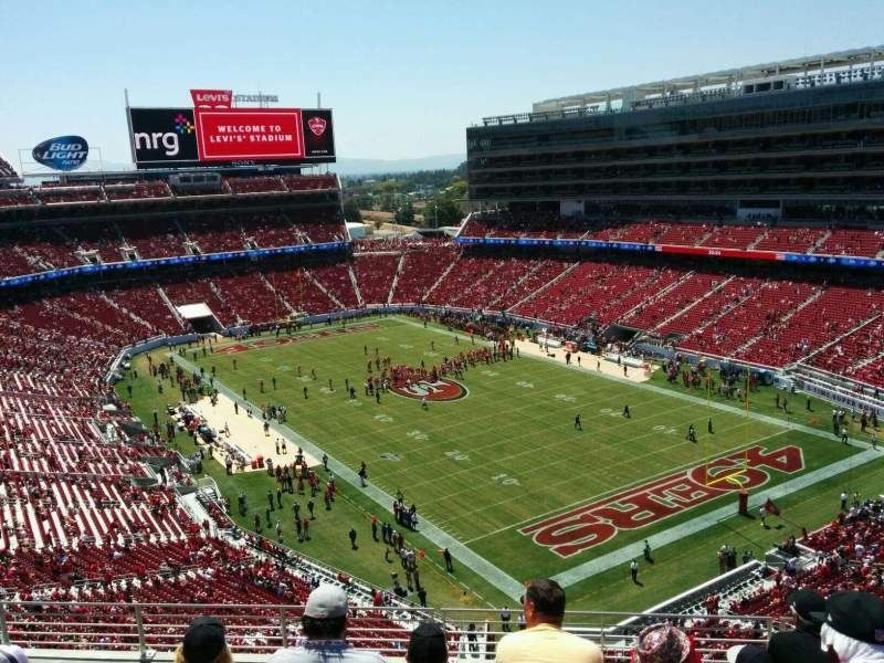 Levi's Stadium, section: 307, row: 7, seat: 17