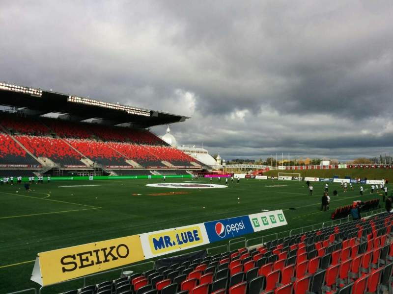Seating view for TD Place Stadium Section W Row 12 Seat 23