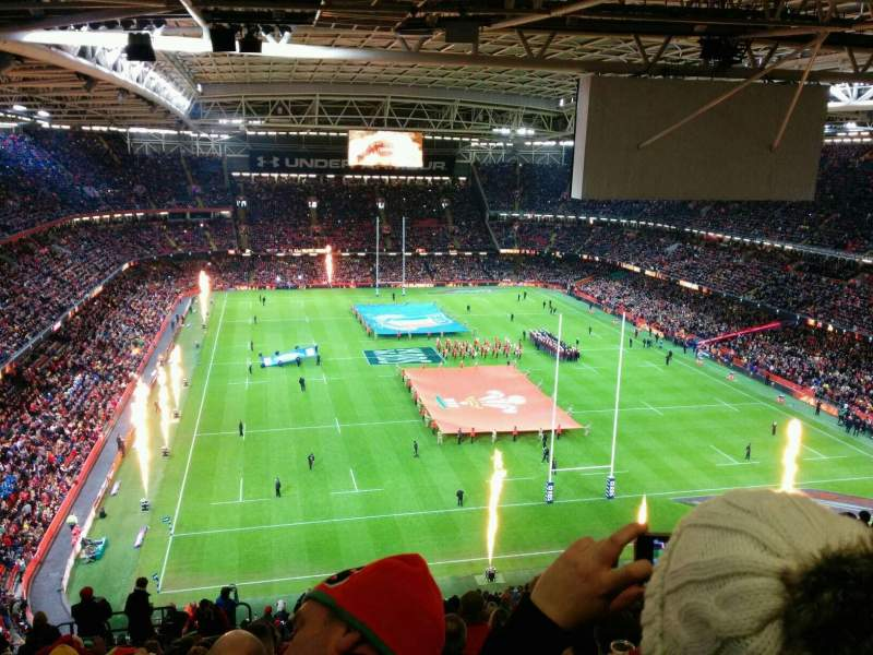 Principality Stadium, section: u21, row: 26, seat: 4