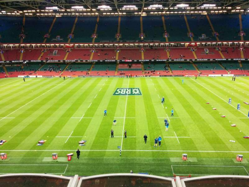 Seating view for Principality Stadium Section u9 Row 3 Seat 19