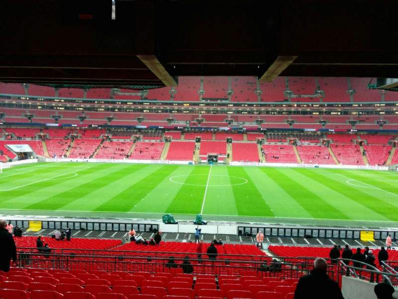 wembley stadium section 122 row 42 seat 317 england. Black Bedroom Furniture Sets. Home Design Ideas