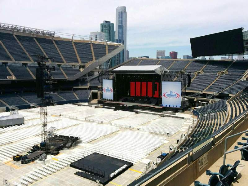 Seating view for Soldier Field Section 312 Row 3 Seat 8