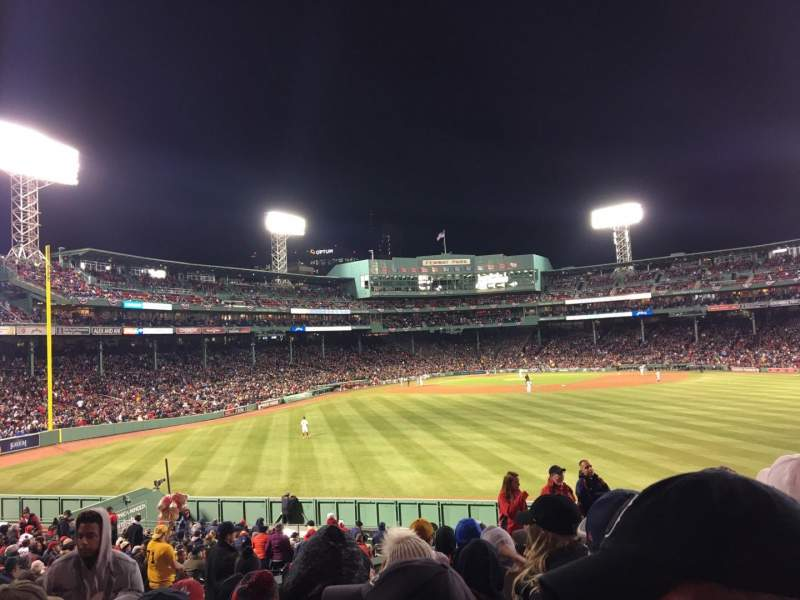 Seating view for Fenway Park Section Bleacher 38 Row 10 Seat 14