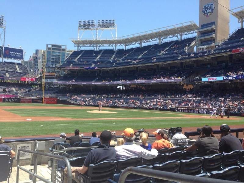 PETCO Park, section: 112, row: 10, seat: 1