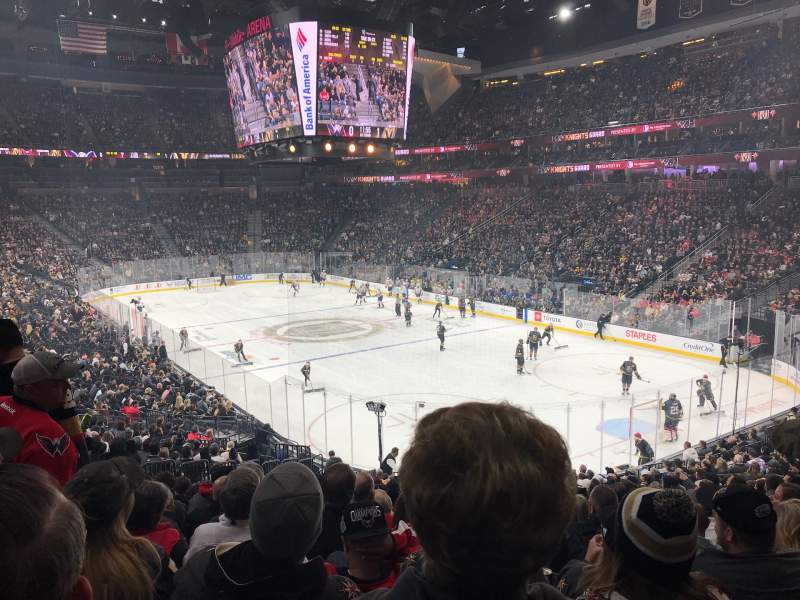 Seating view for T-Mobile Arena Section 19 Row W Seat 9