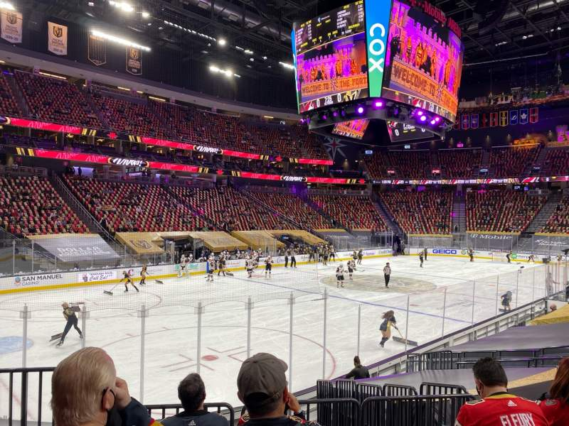 Seating view for T-Mobile Arena Section 13 Row K Seat 2