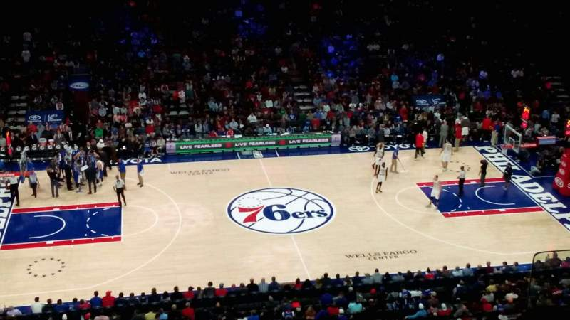 Seating view for Wells Fargo Center Section 212 Row 4 Seat 12