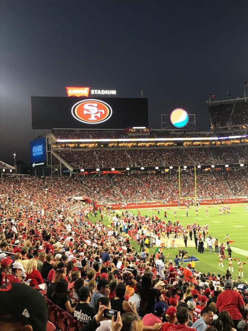 Seating view for Levi's Stadium Section 131 Row 26 Seat 1