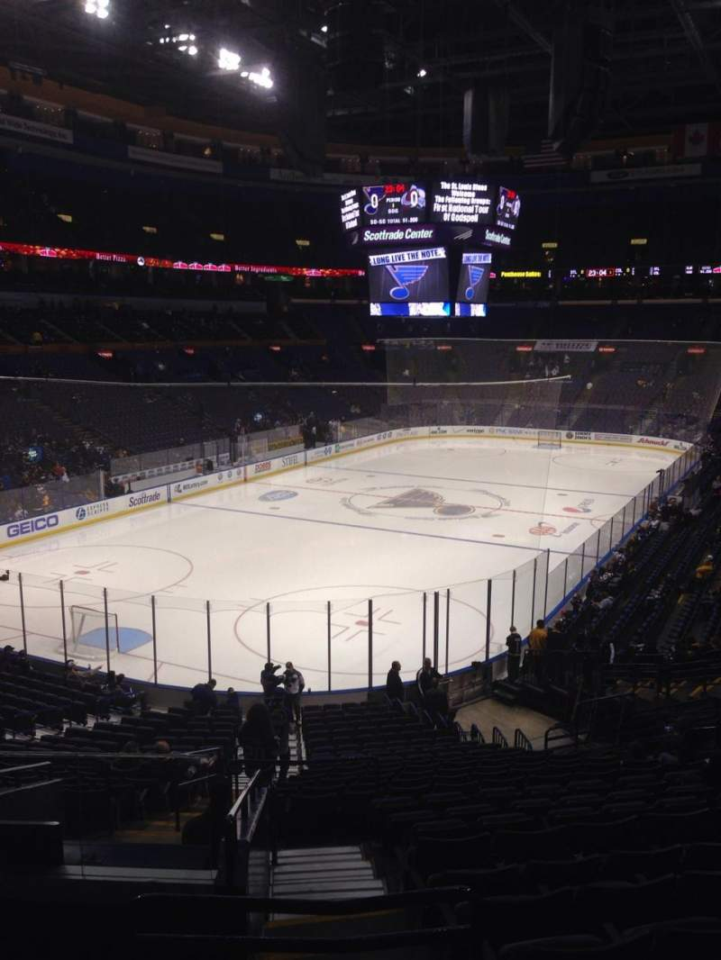 Seating view for Scottrade Center Section 120 Row EE Seat 15