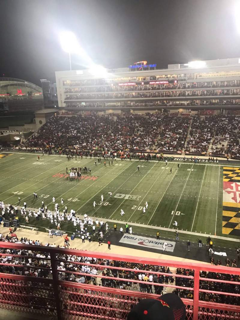 Seating view for Maryland Stadium Section 310 Row C Seat 10