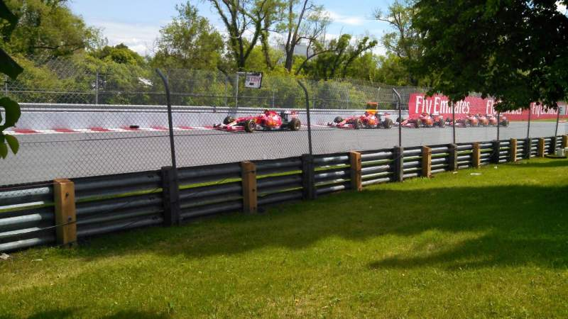 Seating view for Circuit Gilles Villeneuve Section ga