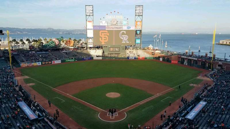 Seating view for Oracle Park Section VR315 Seat 7