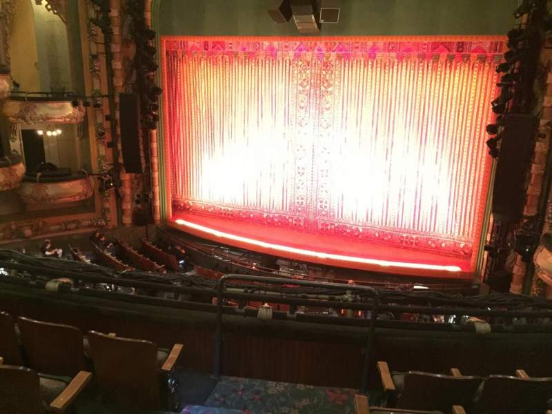 Seating view for New Amsterdam Theatre Section Mezzanine R Row DD Seat 4