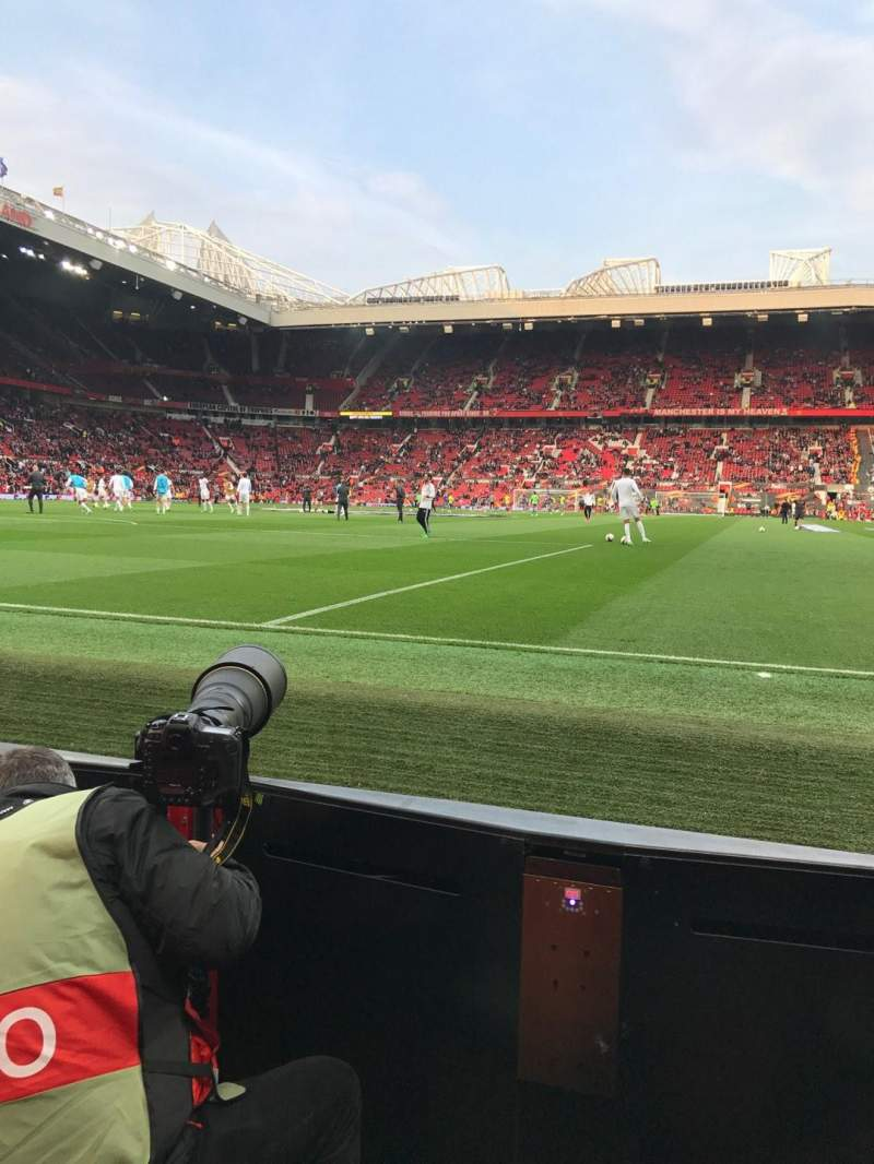 Seating view for Old Trafford Section W105 Row AA Seat 74