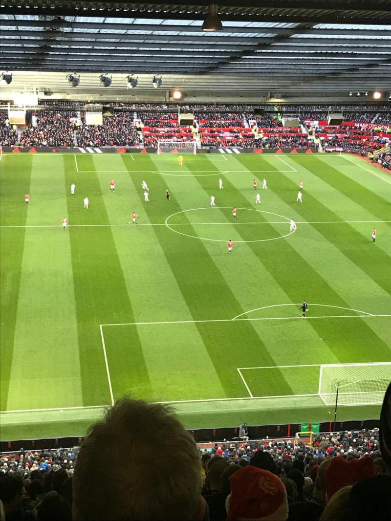 Seating view for Old Trafford Section W3102 Row 34 Seat 154