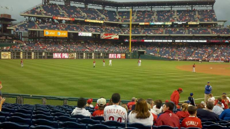 Seating view for Citizens Bank Park Section 138 Row 20 Seat 06