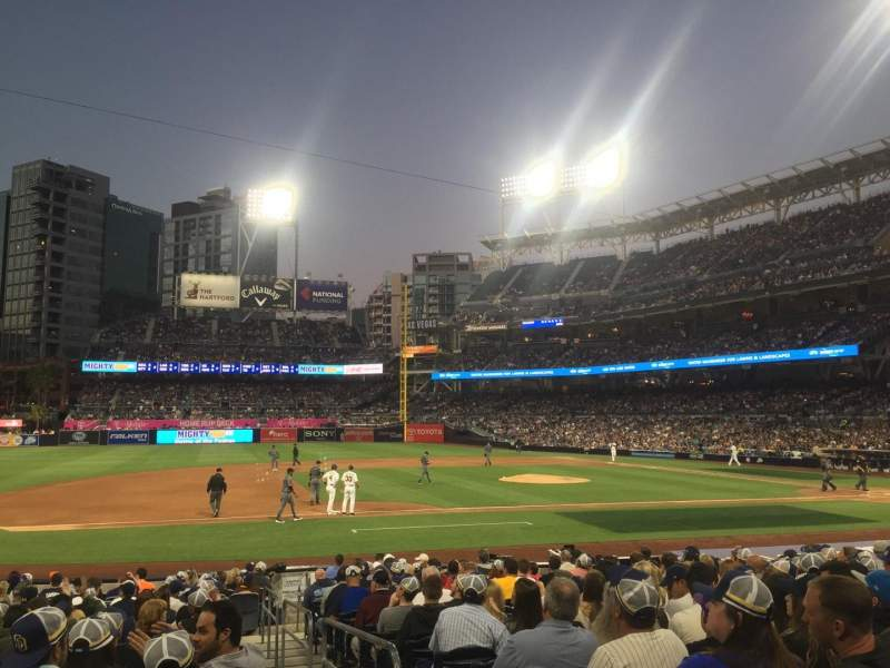 Seating view for PETCO Park Section 112 Row 20 Seat 1