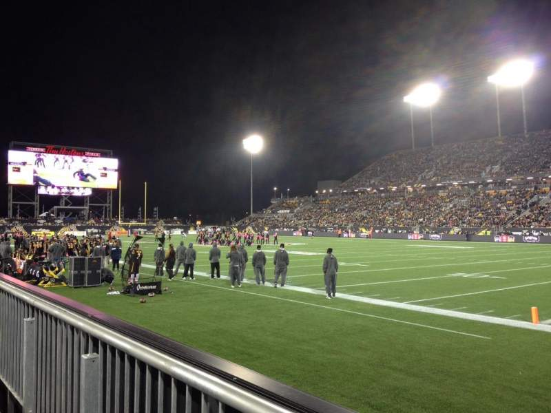 Seating view for Tim Hortons Field Section 102 Row 1 Seat 22