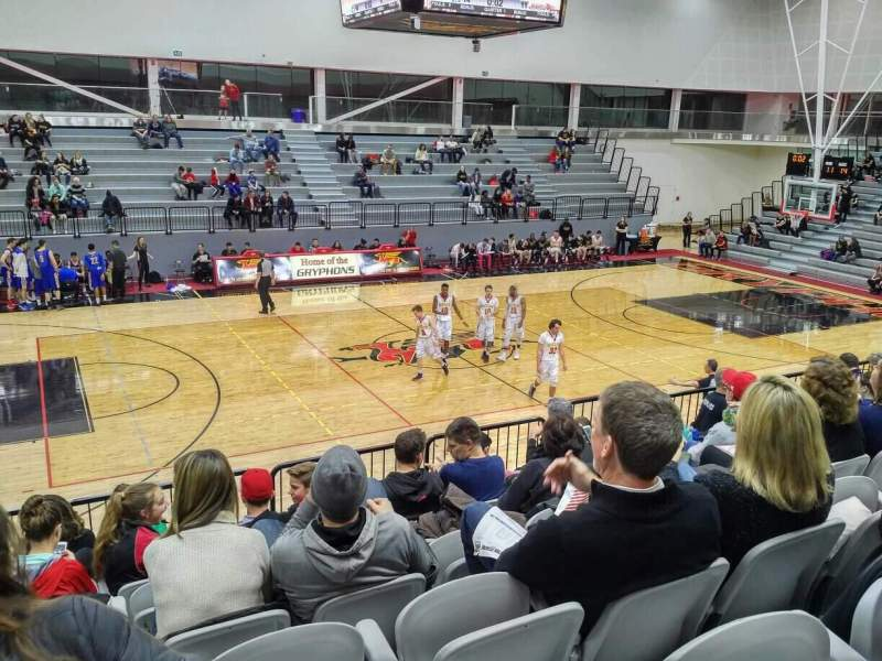 Seating view for Guelph Gryphons Athletics Centre Section GA