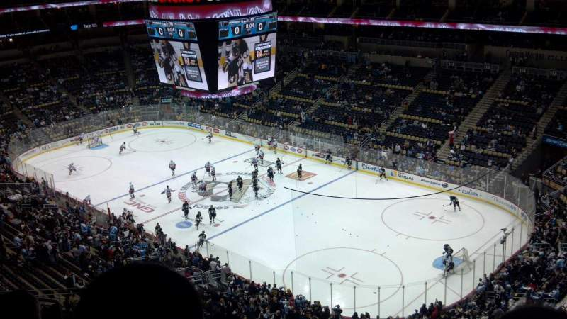 Ppg paints arena section 232 row k seat 12 pittsburgh for Hotels close to ppg paints arena