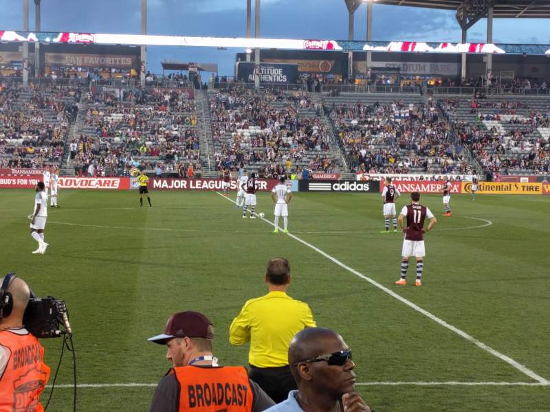 Seating view for Dick's Sporting Goods Park Section 129 Row 3 Seat 7
