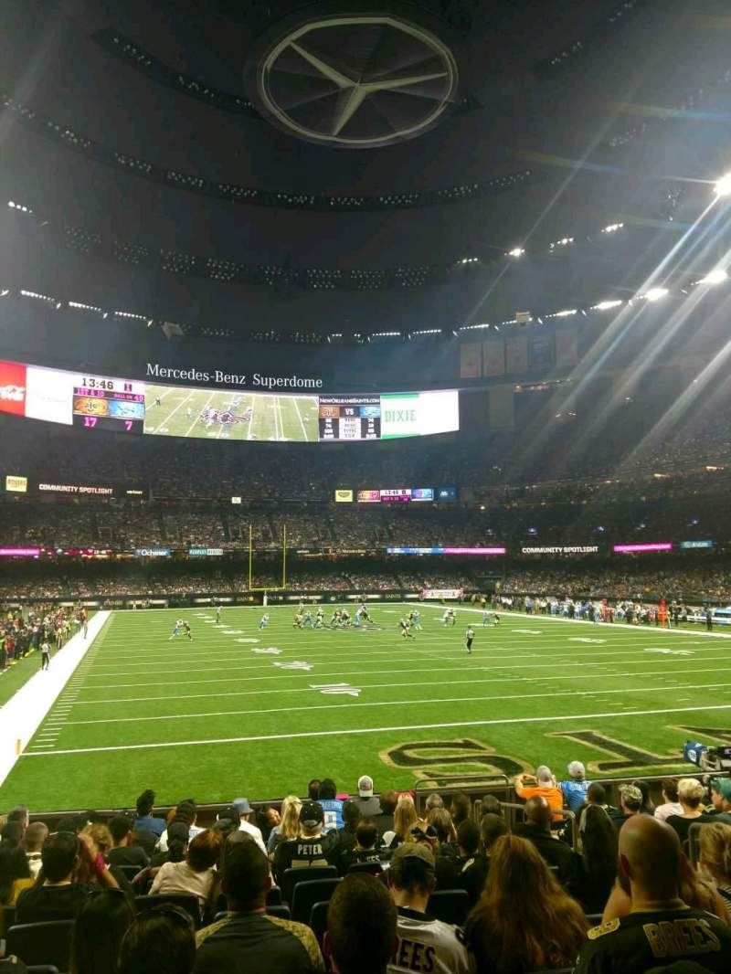 Elegant Seating View For Mercedes Benz Superdome Section 130 Row 12 Seat 5
