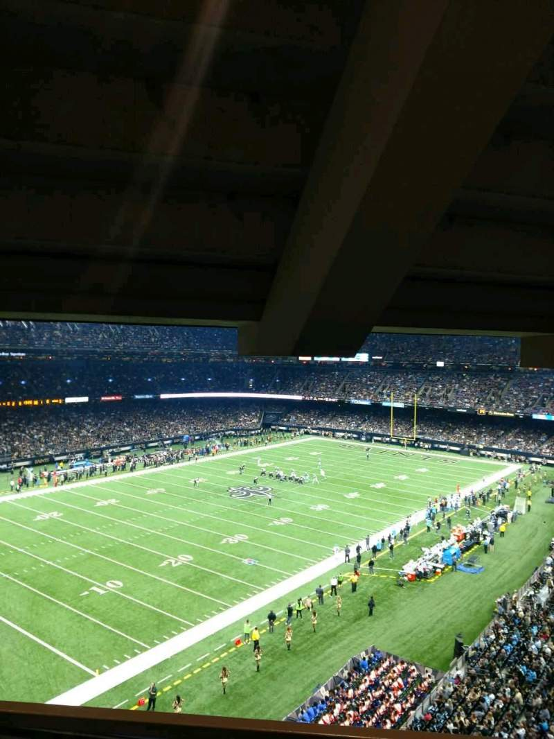Mercedes benz superdome section suite 430 row b seat 5 for Mercedes benz superdome suites