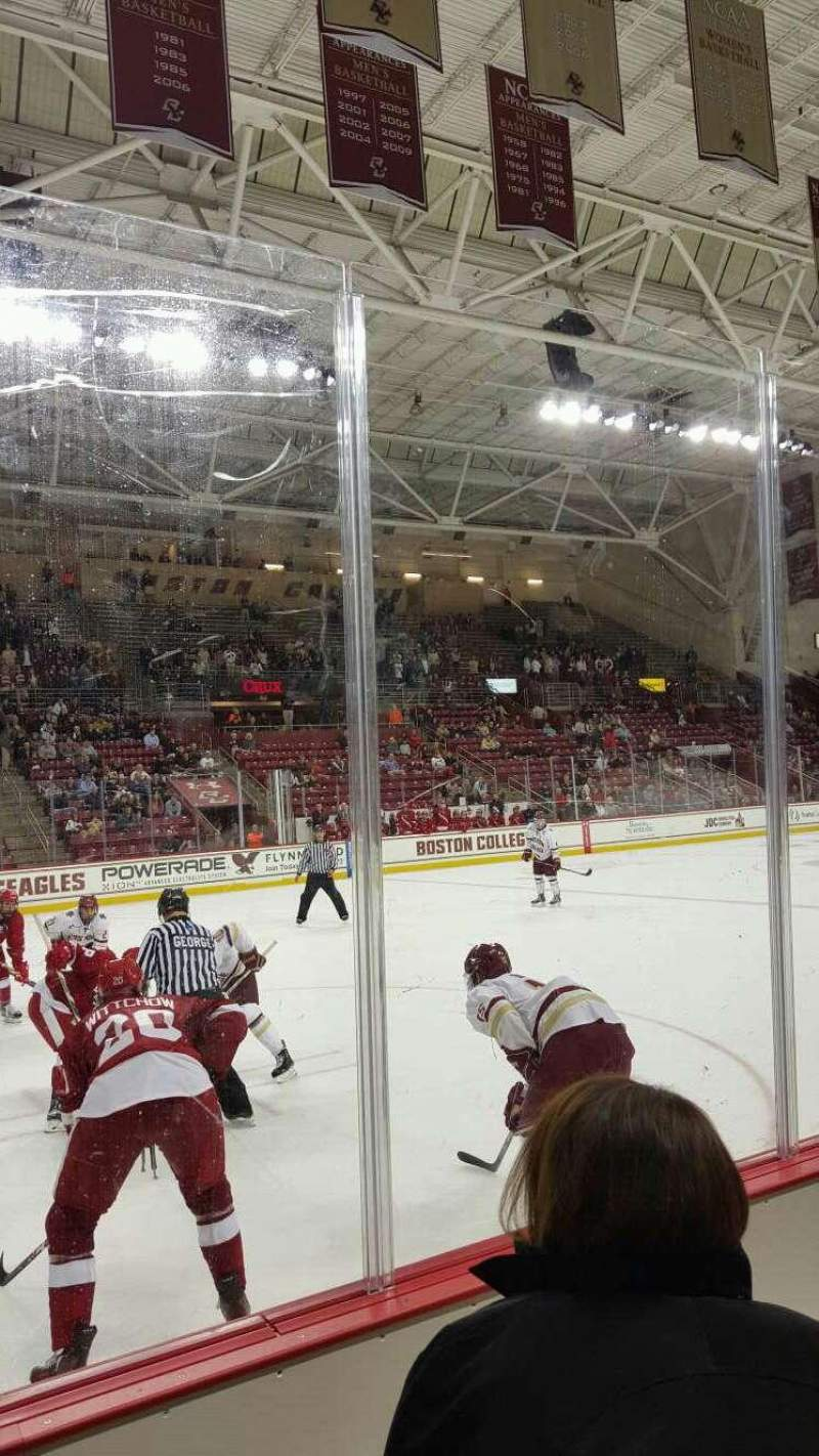 Seating view for Conte Forum Section O Row 2 Seat 12