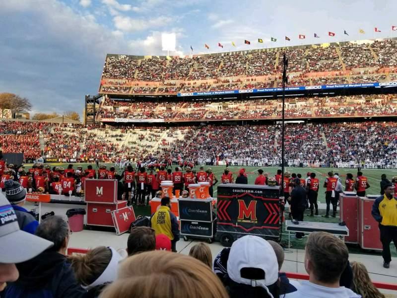 Maryland Stadium, section: 25, row: F, seat: 8