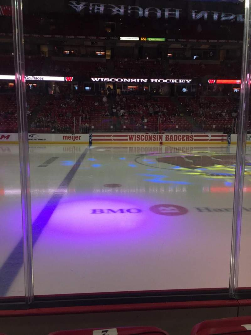 Seating view for Kohl Center Section 109 Row B Seat 2
