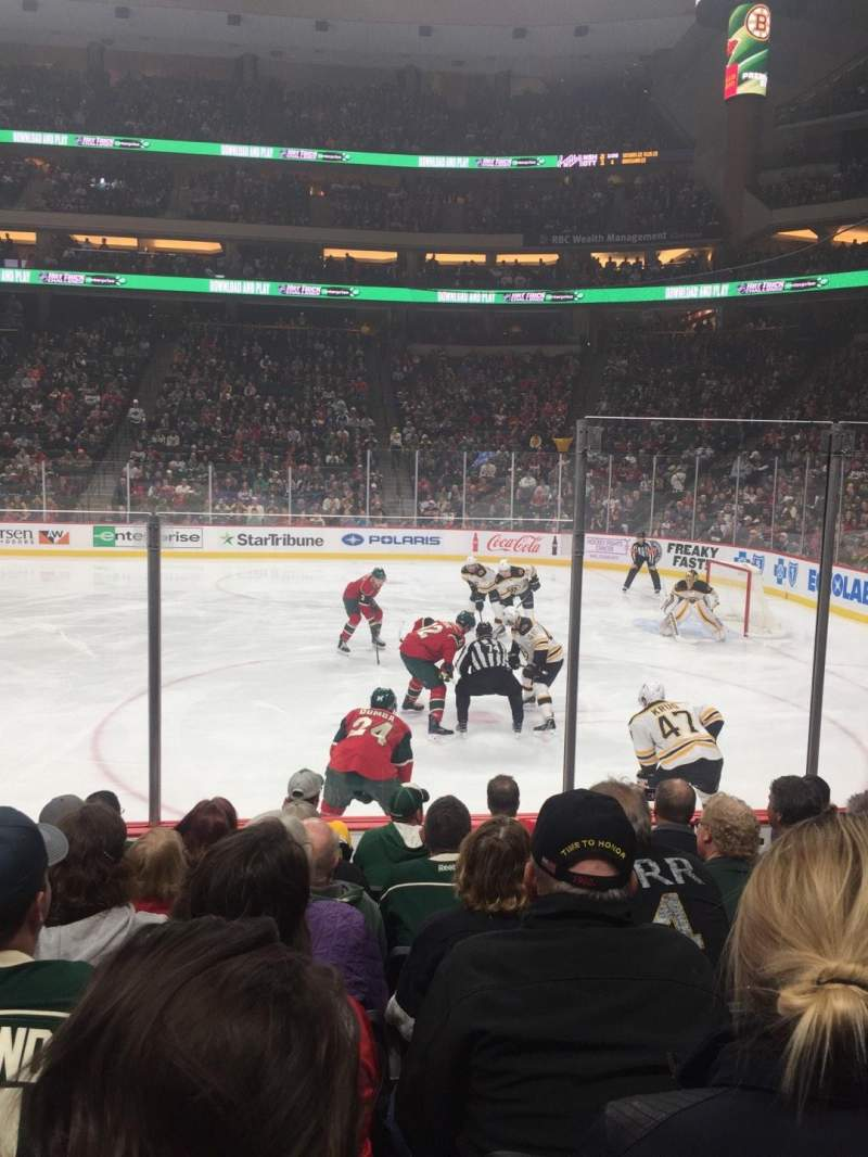 Seating view for Xcel Energy Center Section 115 Row 7 Seat 5
